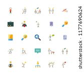 social vector icons set.... | Shutterstock .eps vector #1177690624