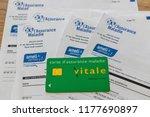 paris  france   september 07 ... | Shutterstock . vector #1177690897
