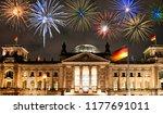fireworks over berlin... | Shutterstock . vector #1177691011