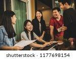 asian younger freelance... | Shutterstock . vector #1177698154
