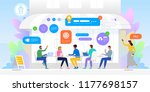 networking concept. group of...   Shutterstock .eps vector #1177698157