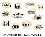 bakery bread and pastry cakes...   Shutterstock .eps vector #1177700251