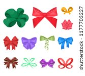 multicolored bows cartoon icons ... | Shutterstock .eps vector #1177703227