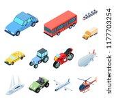 different types of transport... | Shutterstock .eps vector #1177703254