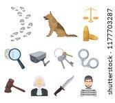 prison and the criminalcartoon... | Shutterstock .eps vector #1177703287