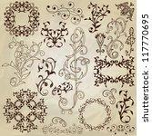 vector  floral pattern design... | Shutterstock .eps vector #117770695