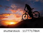 silhouette of sports person... | Shutterstock . vector #1177717864