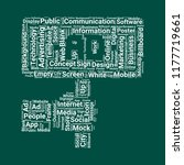 ad word cloud. word cloud of ad ... | Shutterstock .eps vector #1177719661