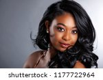 glamour african american beauty ... | Shutterstock . vector #1177722964