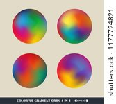 abstract of colorful gradient... | Shutterstock .eps vector #1177724821
