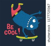 skater monster vector design... | Shutterstock .eps vector #1177725367