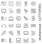 thin line vector icon set  ... | Shutterstock .eps vector #1177729351