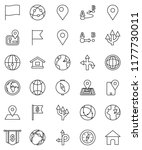 thin line vector icon set  ... | Shutterstock .eps vector #1177730011