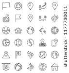 thin line vector icon set  ... | Shutterstock .eps vector #1177730011