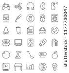 thin line vector icon set  ... | Shutterstock .eps vector #1177730047