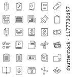 thin line vector icon set  ... | Shutterstock .eps vector #1177730197