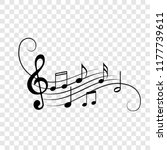 music notes background. vector... | Shutterstock .eps vector #1177739611