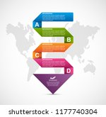 abstract options infographics... | Shutterstock .eps vector #1177740304