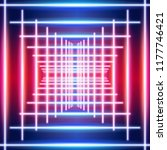 bright neon lines ultraviolet...   Shutterstock .eps vector #1177746421