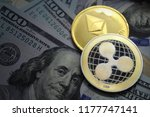 crypto coins xrp ripple and eth ... | Shutterstock . vector #1177747141