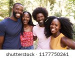 portrait of four black adult... | Shutterstock . vector #1177750261