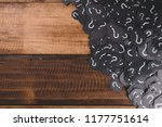 heap of black paper with... | Shutterstock . vector #1177751614