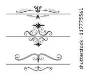 calligraphic elements set   Shutterstock .eps vector #117775561