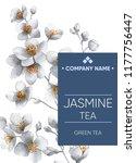tea sticker. herbal tea.... | Shutterstock . vector #1177756447