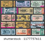 zoo tickets for zoological park.... | Shutterstock .eps vector #1177757611