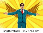 businessman with widely spread ... | Shutterstock .eps vector #1177761424