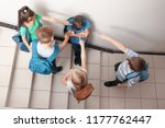 little children bullying their... | Shutterstock . vector #1177762447