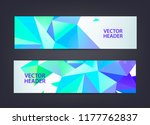 abstract polygonal  mosaic ... | Shutterstock .eps vector #1177762837