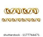 golden  ornamental segment  ... | Shutterstock . vector #1177766671
