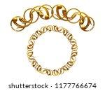 golden ornamental segment  ... | Shutterstock . vector #1177766674
