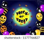 happy halloween  banner  scary... | Shutterstock .eps vector #1177766827