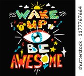 success secret   wake up and be ... | Shutterstock .eps vector #1177767664