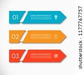business infographic arrow... | Shutterstock .eps vector #1177767757