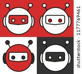 emoji with a set of red  white  ... | Shutterstock .eps vector #1177769461