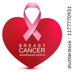 breast cancer awareness month.... | Shutterstock .eps vector #1177770931