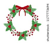 new year and christmas wreath... | Shutterstock .eps vector #1177773694