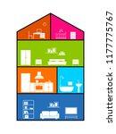 cross section of house. clipart ... | Shutterstock .eps vector #1177775767