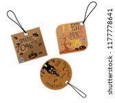 halloween sale text on tag... | Shutterstock .eps vector #1177778641