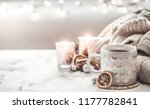 Cozy Winter Composition With A...