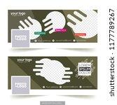 social media banner or cover... | Shutterstock .eps vector #1177789267
