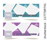 social media banner or cover... | Shutterstock .eps vector #1177789741