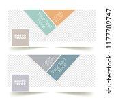 social media banner or cover... | Shutterstock .eps vector #1177789747