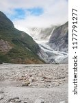 franz josef glacier in westland ...   Shutterstock . vector #1177791277