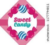 sweet candy card | Shutterstock .eps vector #1177794811