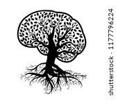 abstract  brain tree  health...   Shutterstock .eps vector #1177796224