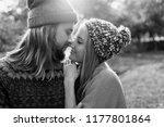 close up romantic portrait of... | Shutterstock . vector #1177801864